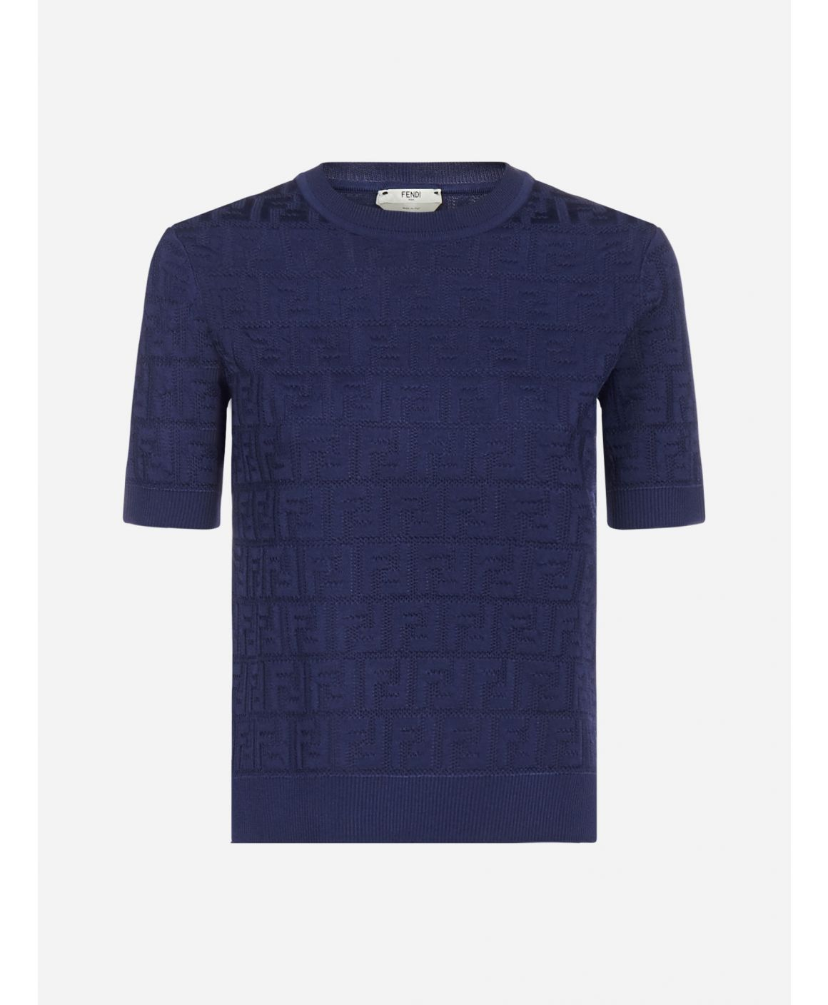 FF jacquard cotton and viscose blend sweater