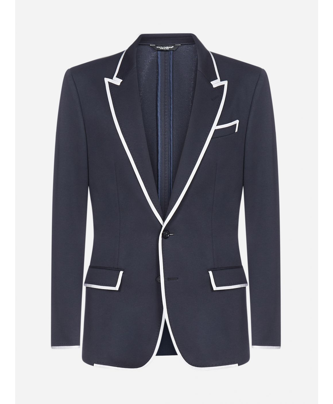 Stretch jersey mono-breasted blazer