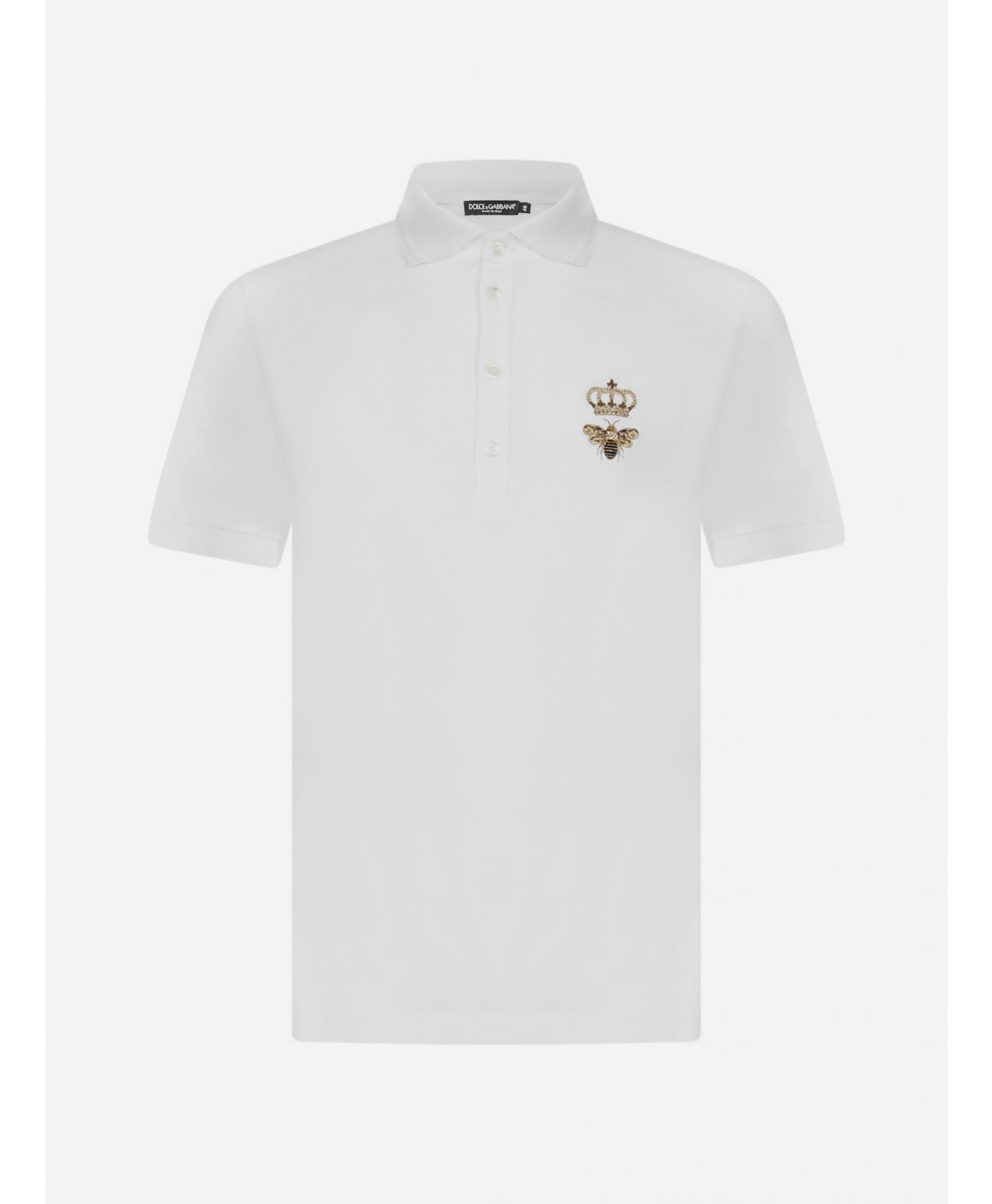 Bee and Crown embroidery cotton polo shirt