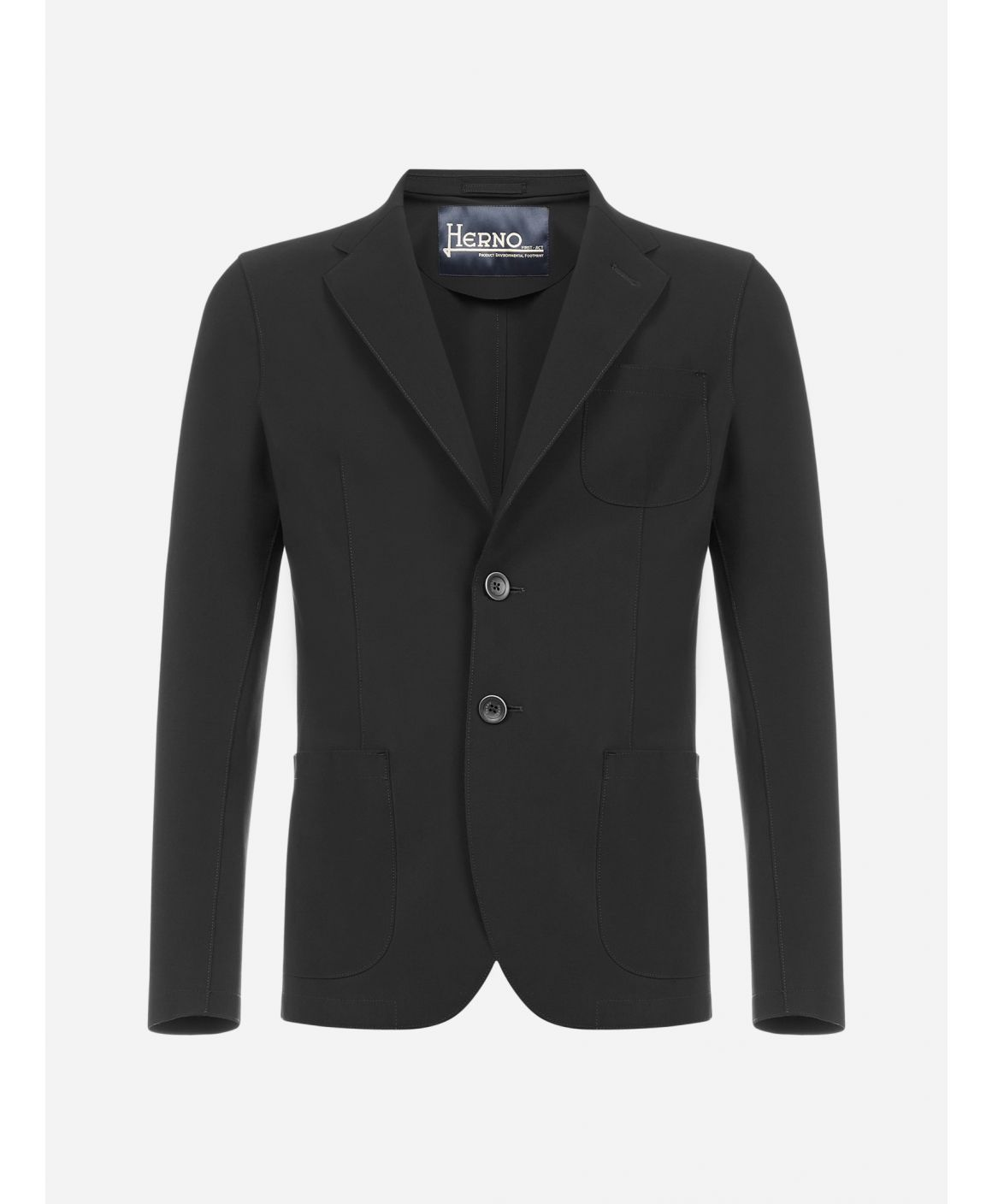 Single-breasted nylon blazer