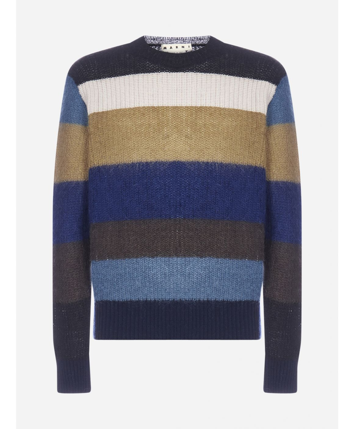Striped mohair and wool-blend sweater
