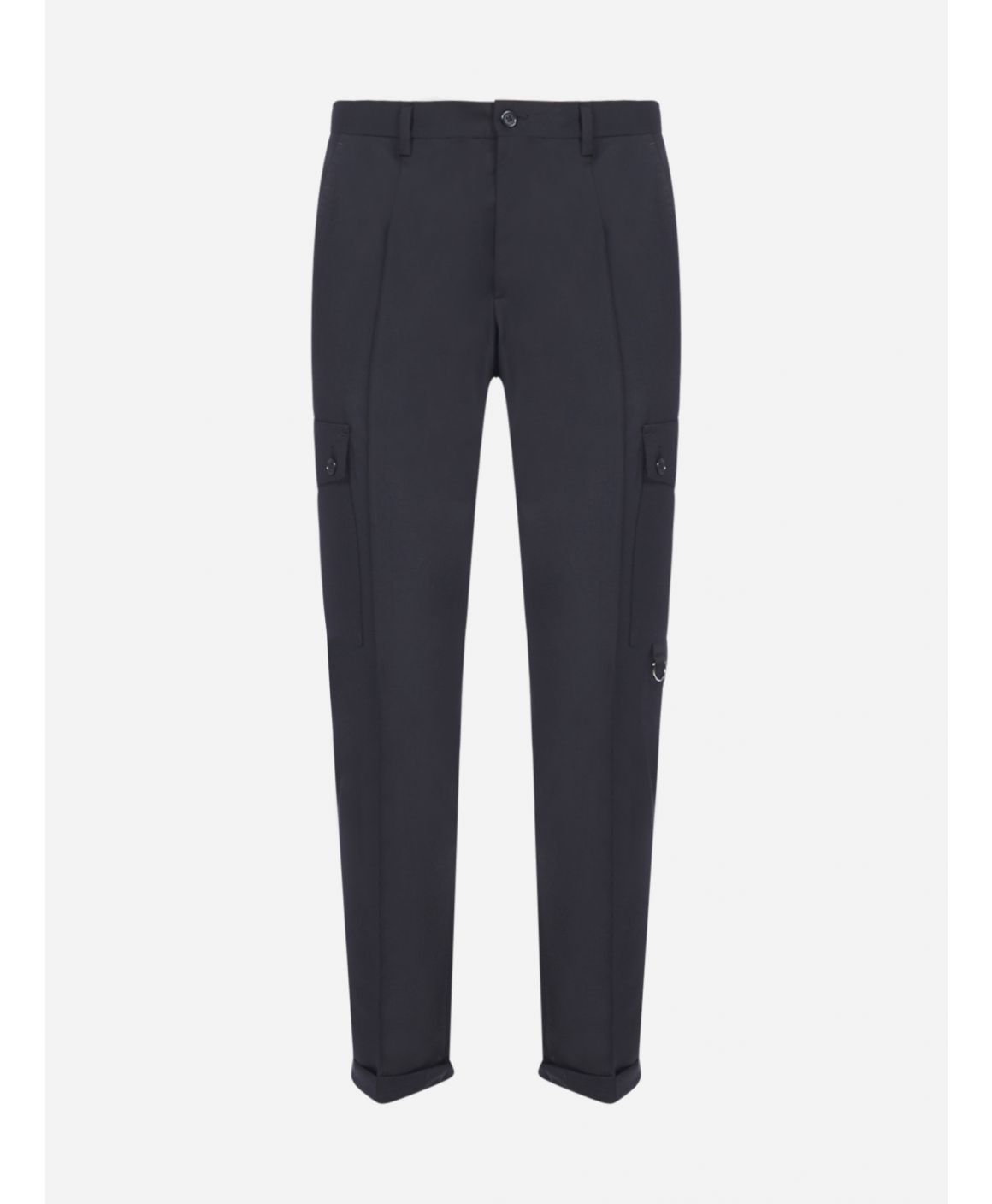 Regular-fit wool and mohair trousers