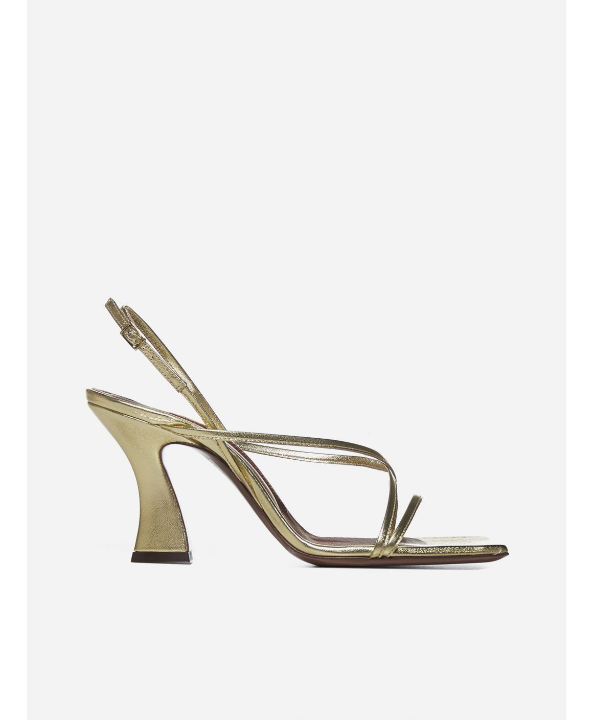 Emma laminated leather sandals