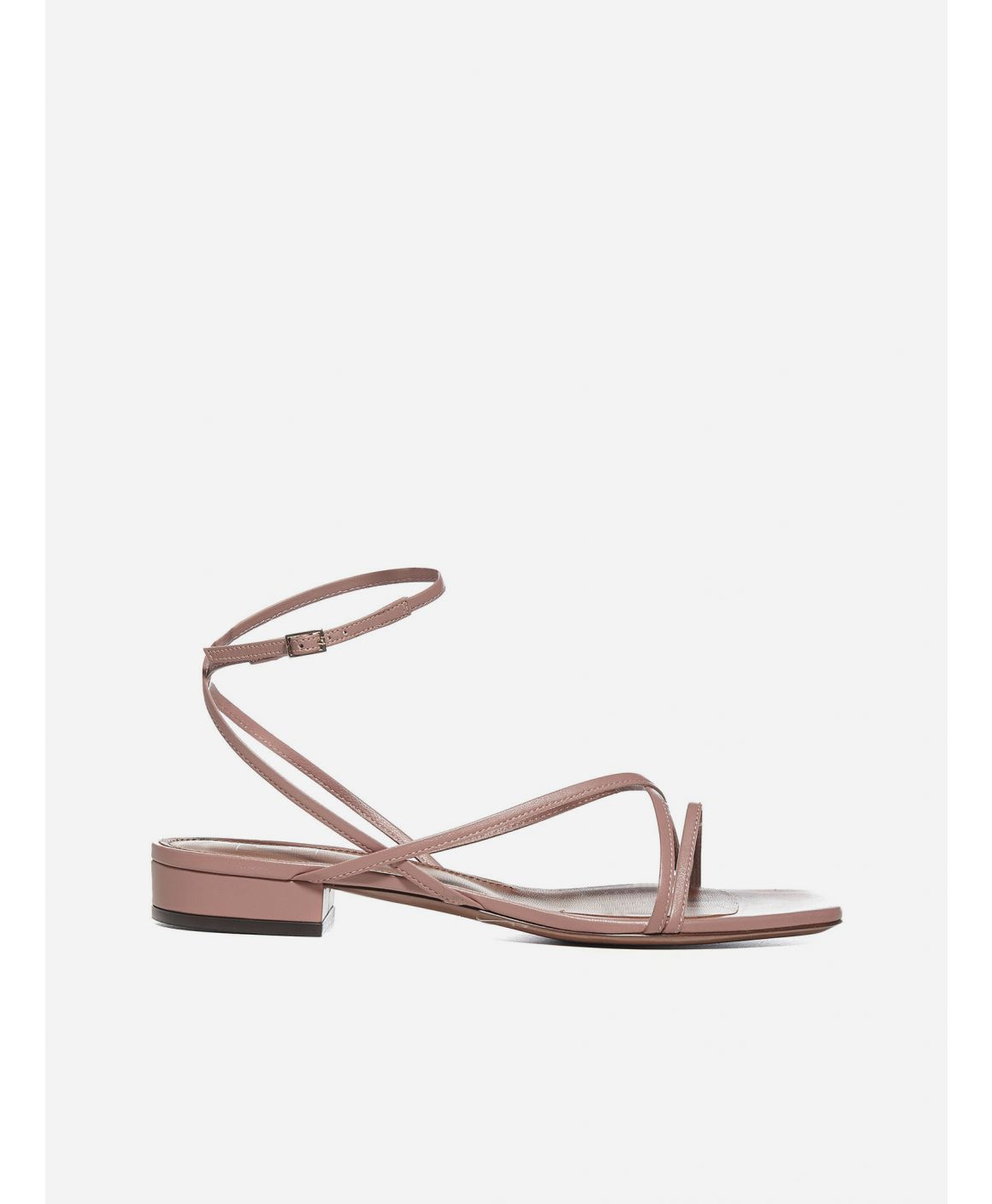 Emma leather flat sandals