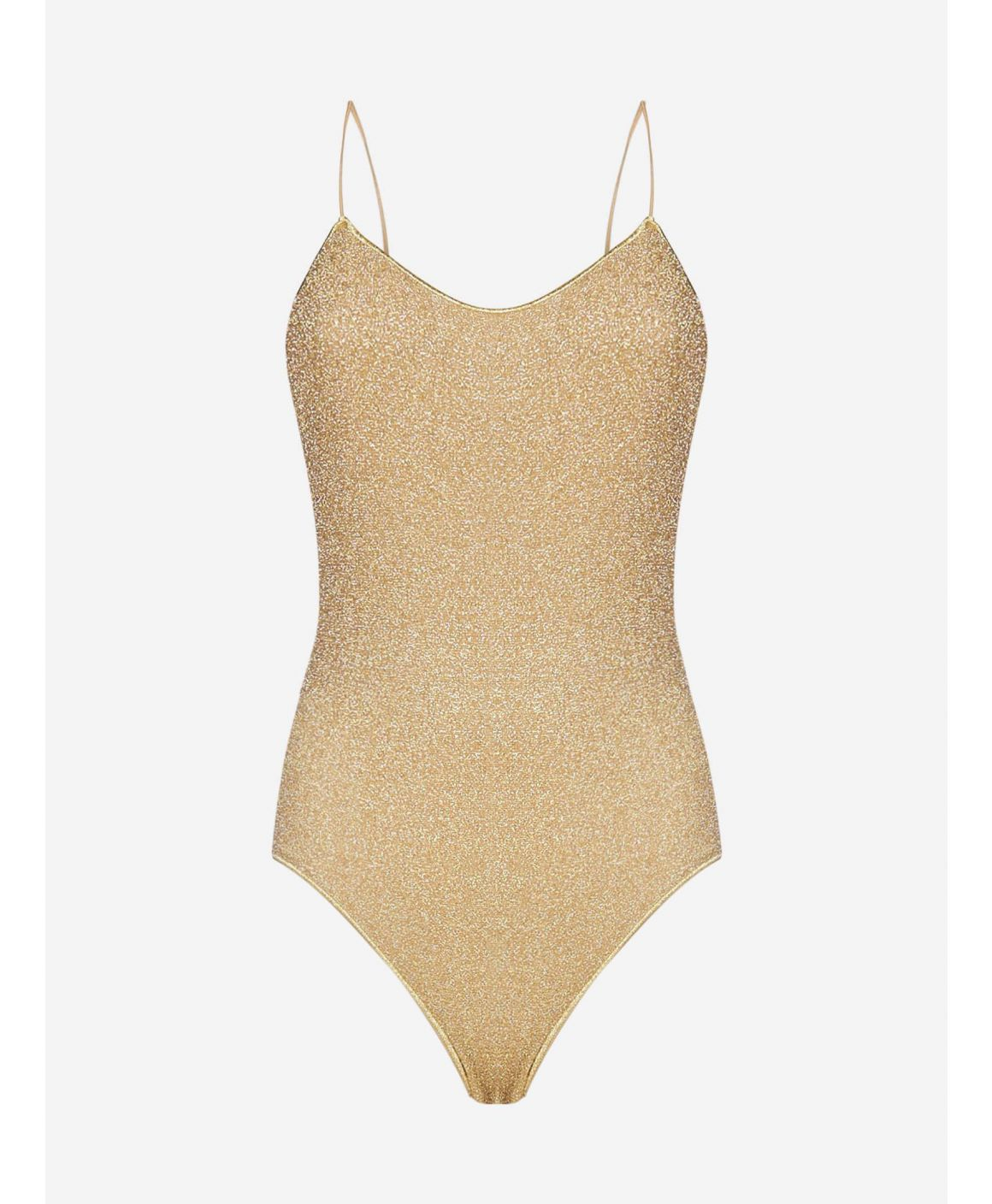 Lumiere lurex knit swimsuit