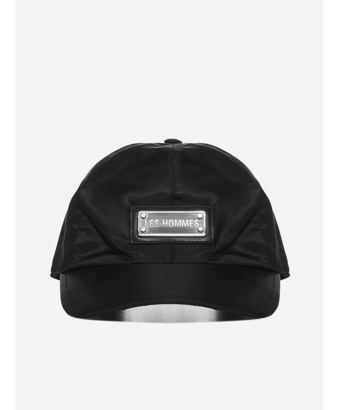 Logo-plaque nylon baseball cap