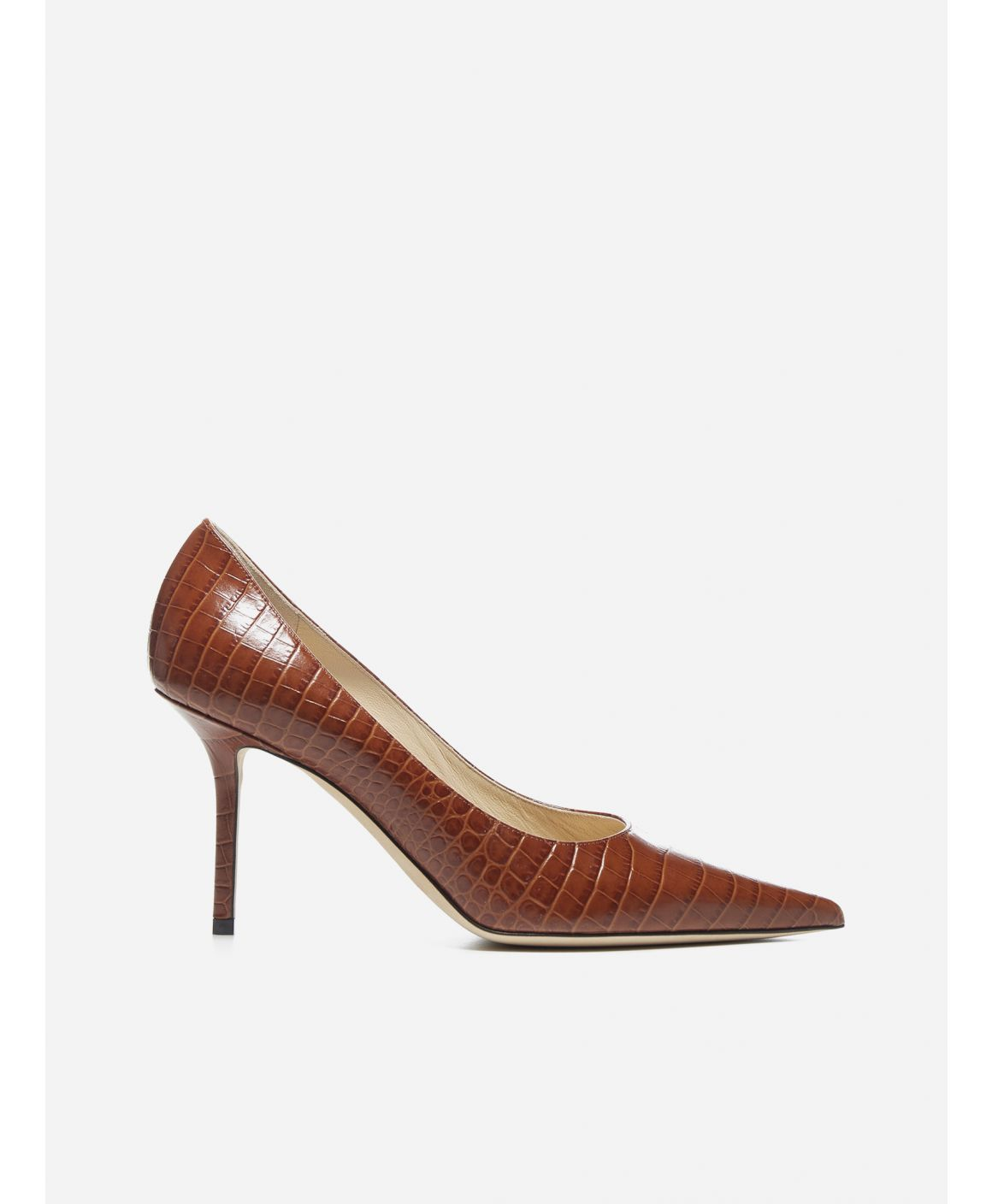 Love 85 crocodile effect leather pumps