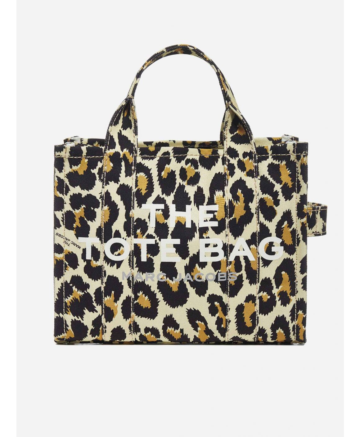 The Traveler Mini leopard print canvas tote bag
