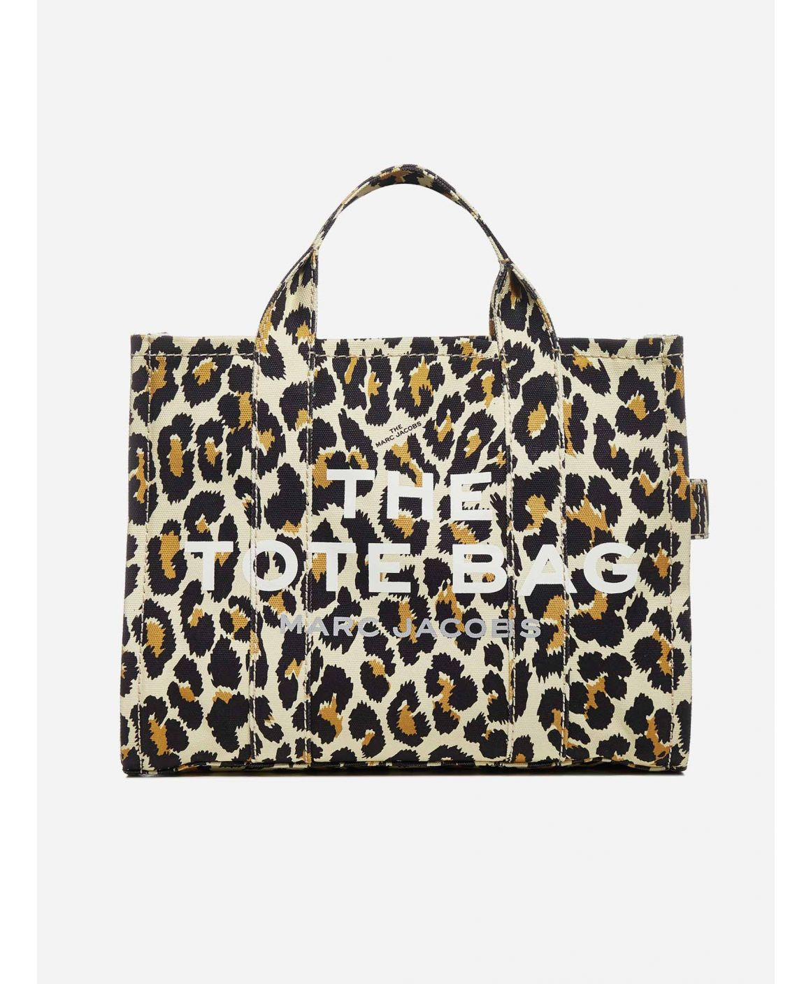 The Traveler Small leopard print canvas tote bag