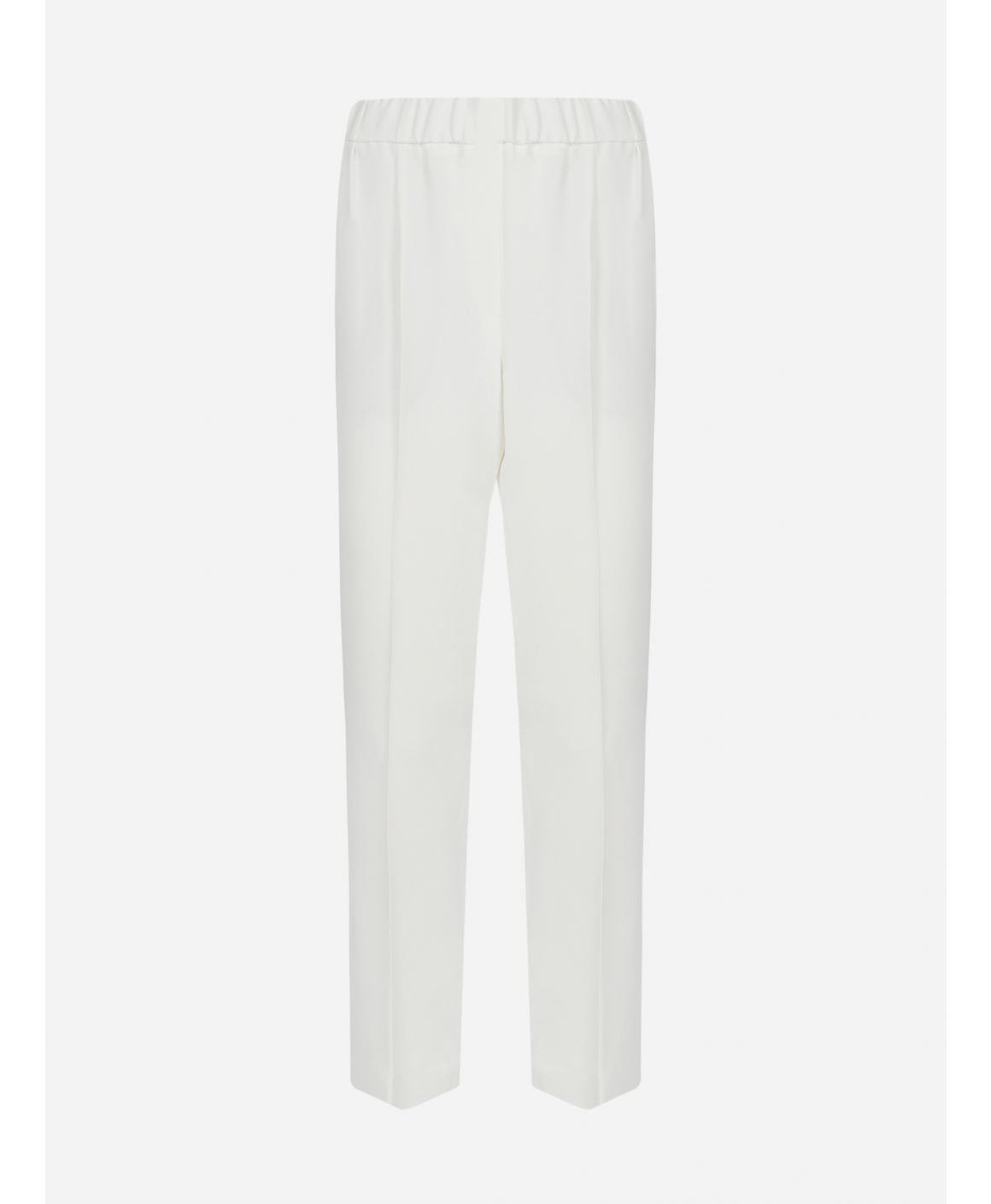 Silk-blend cropped trousers