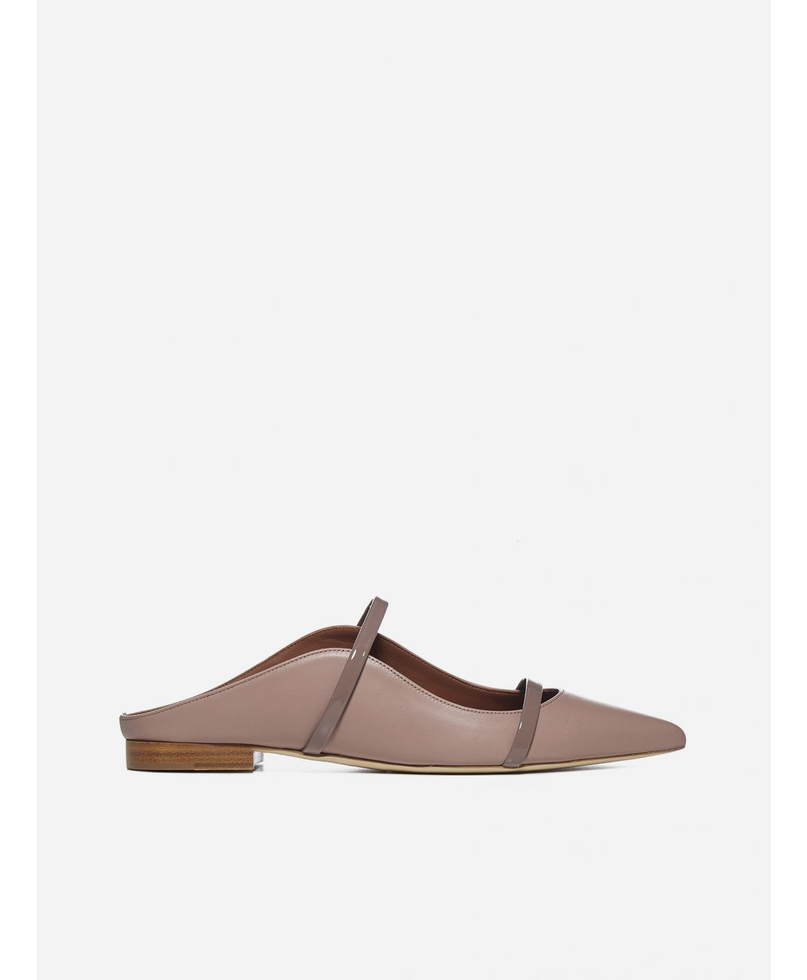 Maureen leather flat mules