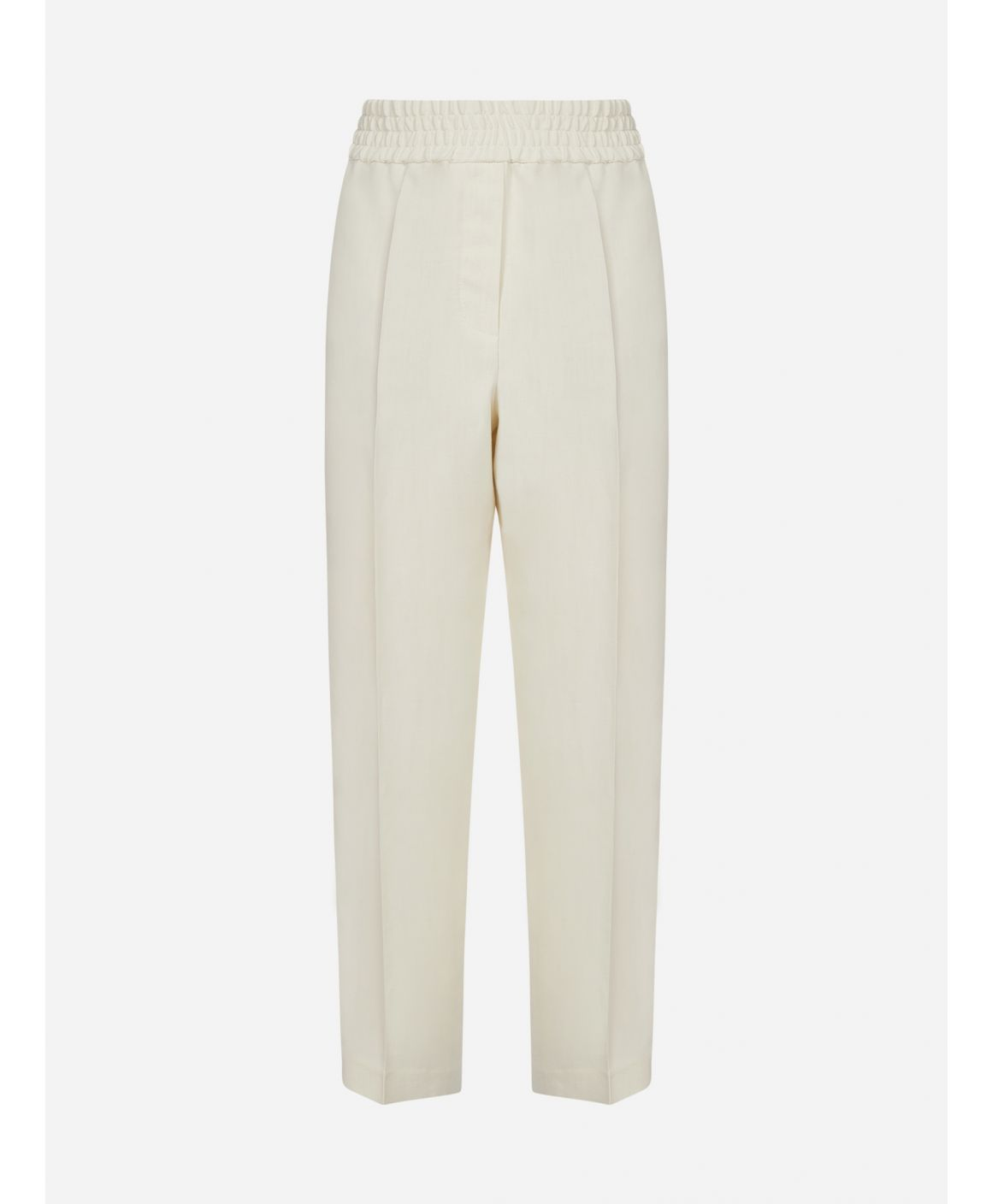 Viscose and linen blend trousers