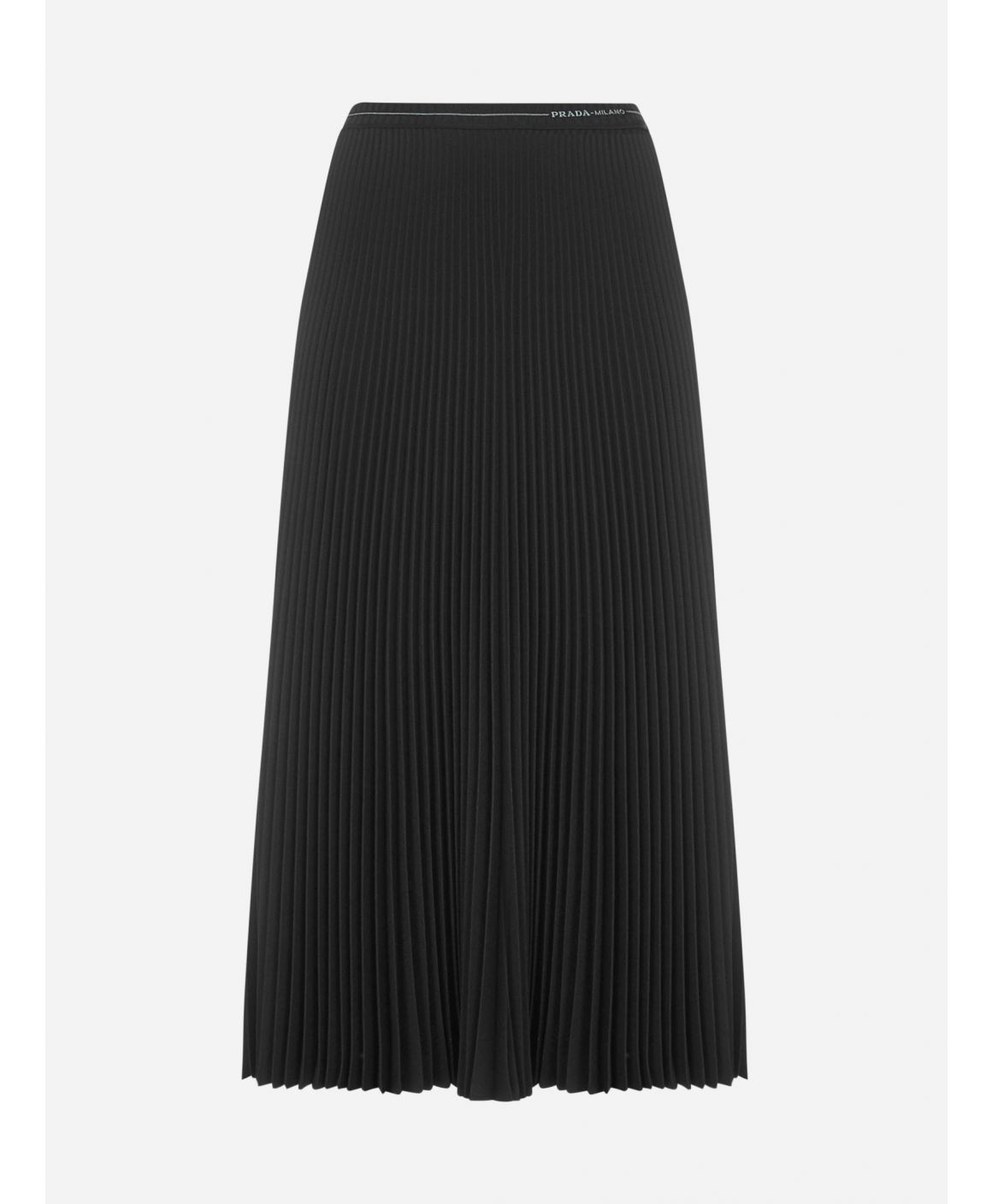 Logo pleated midi skirt
