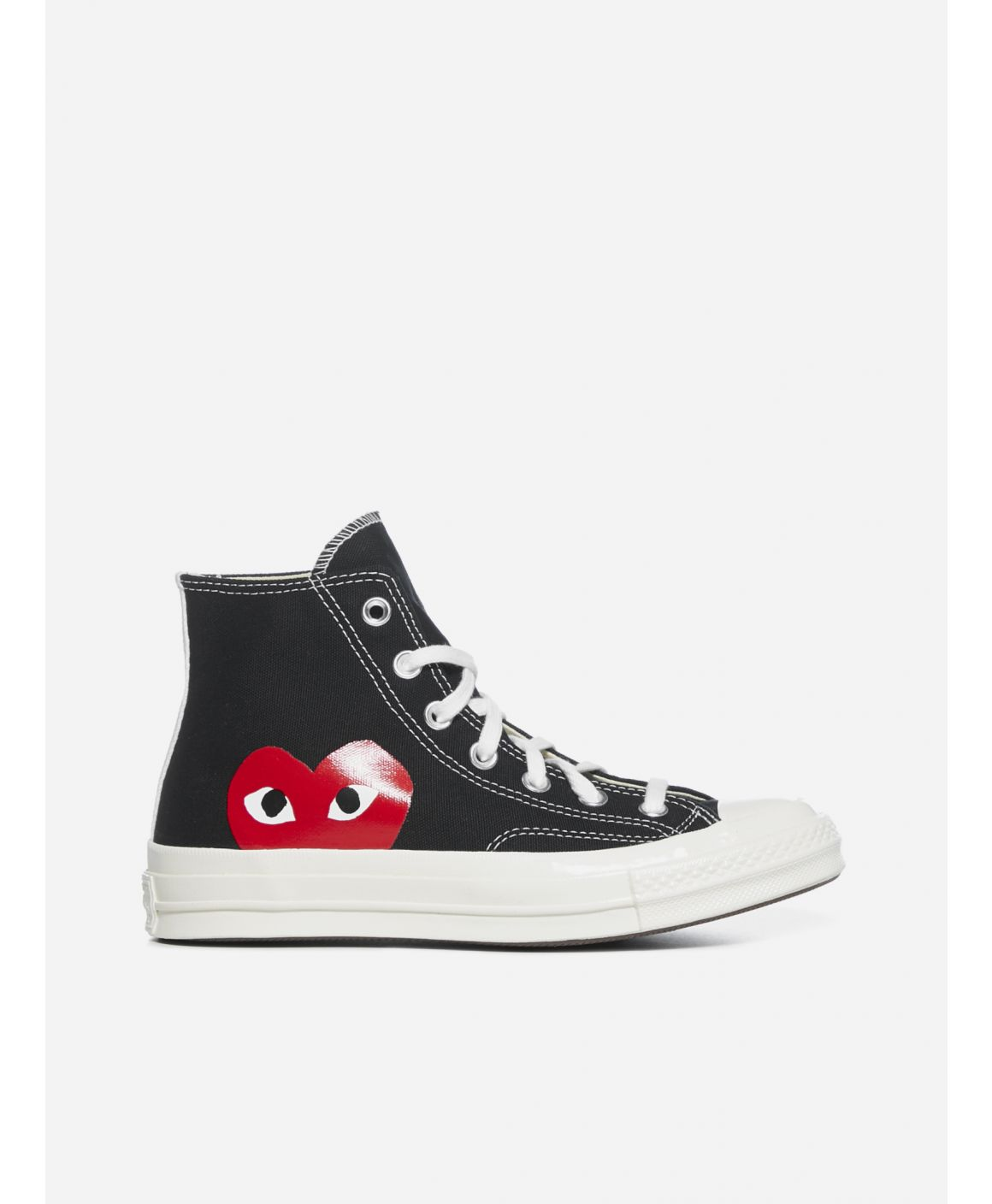 Heart print Chuck Taylor canvas high-top sneakers