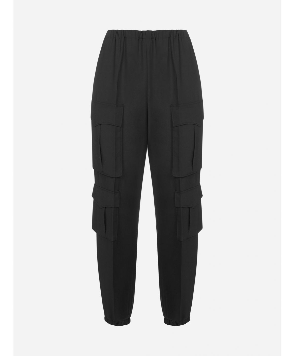 Virgin wool cargo pants