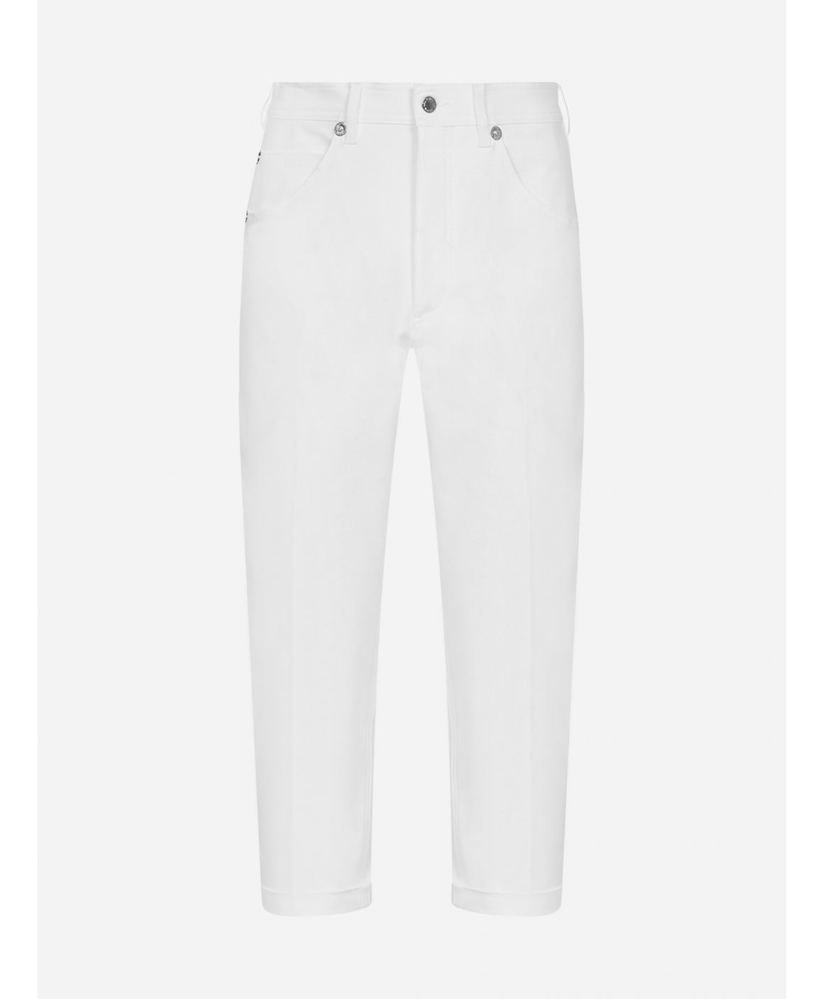 Loose-fit stretch cotton trousers