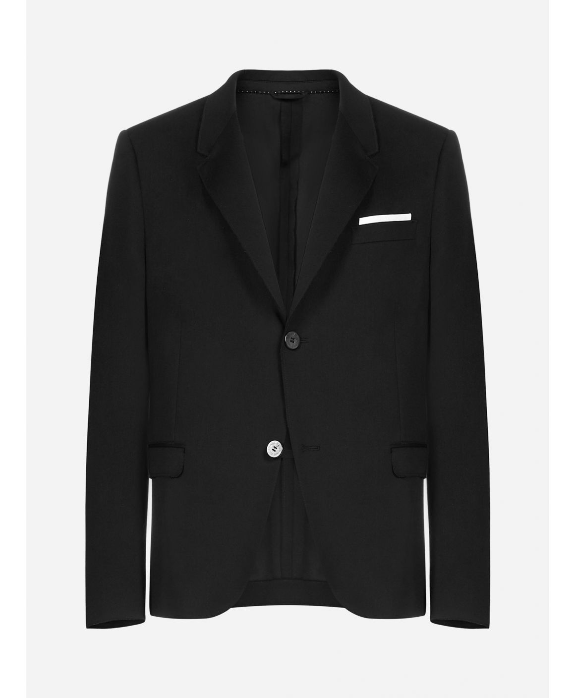 Slim-fit cotton-blend blazer