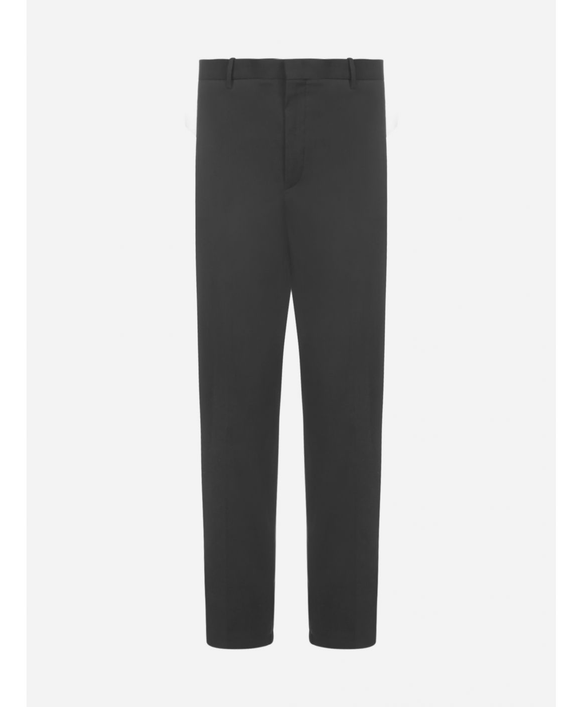 Cotton and viscose cropped pants