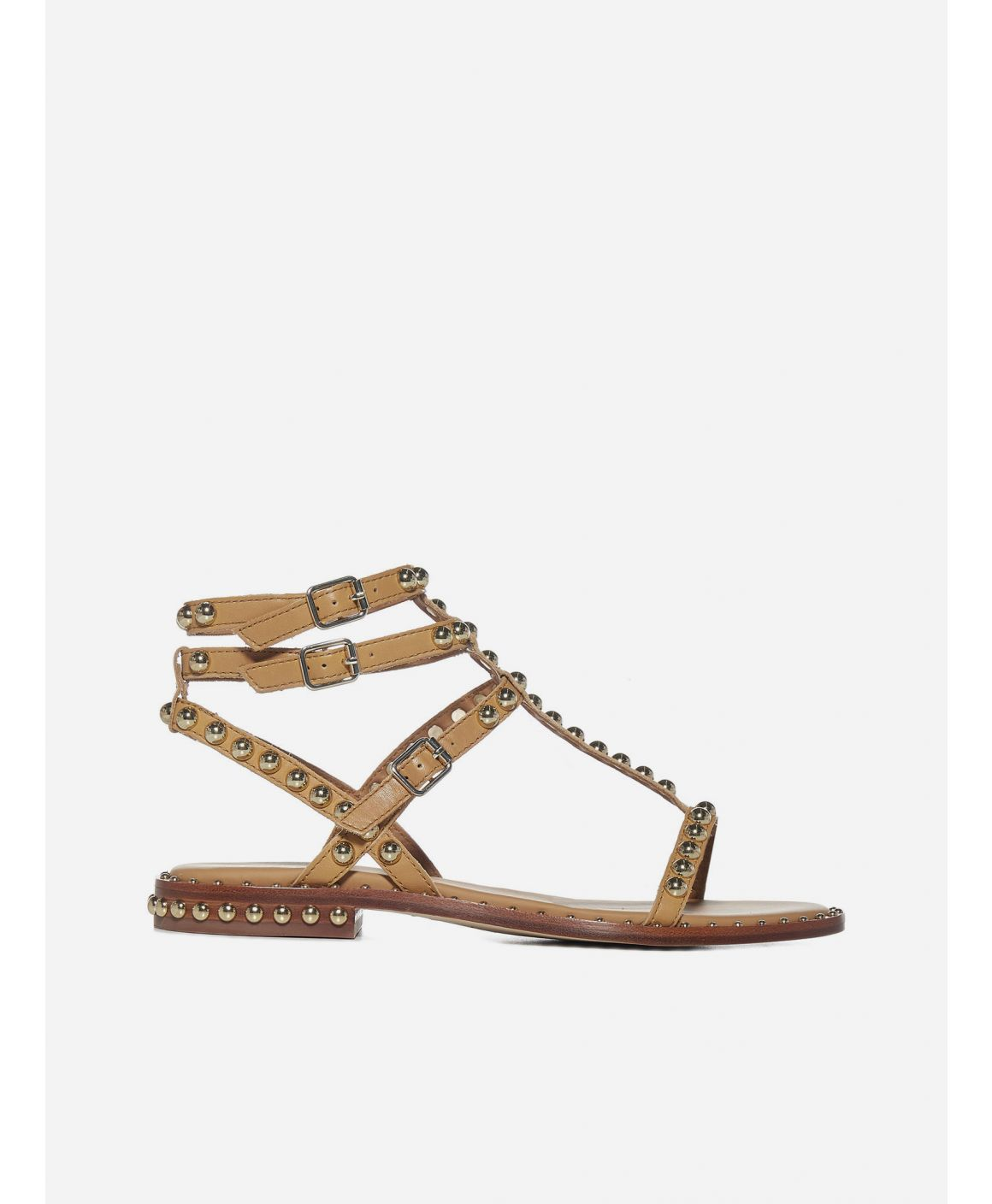 Play studded leather sandals