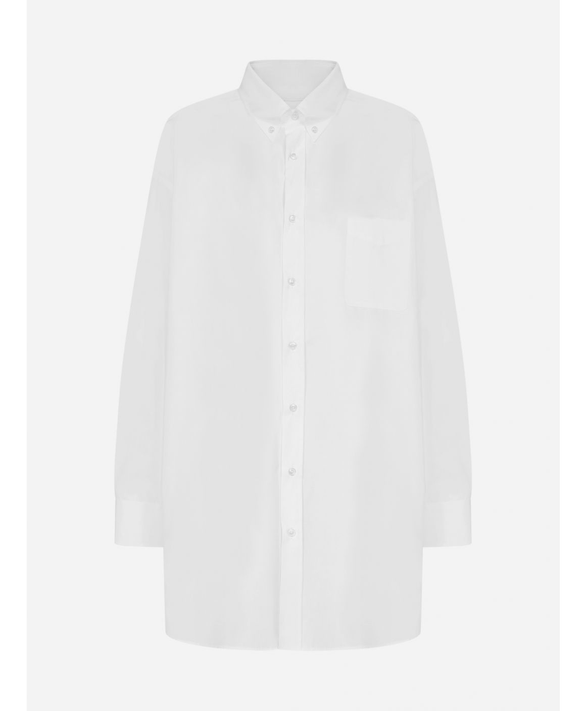 Oversized cotton shirt dress