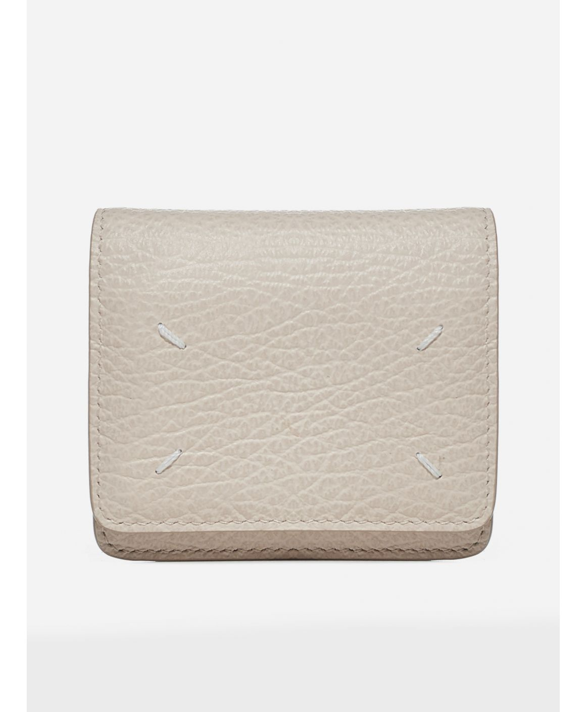 Logo leather wallet micro clutch bag