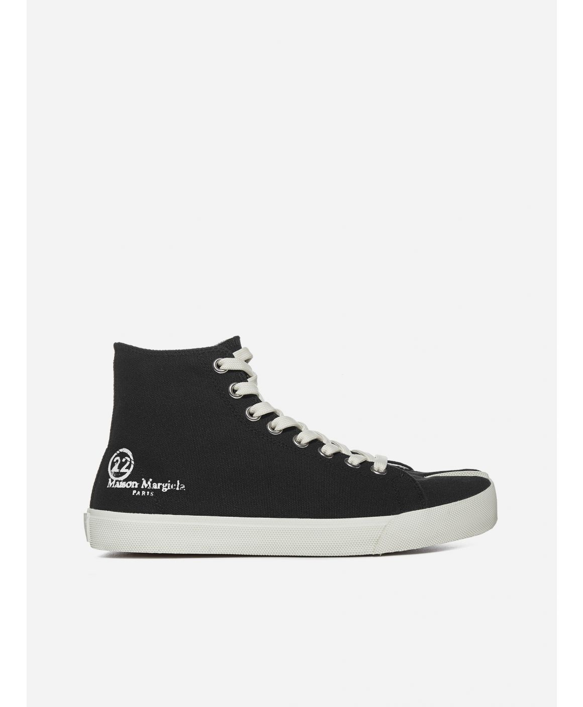Tabi logo canvas high-top sneakers