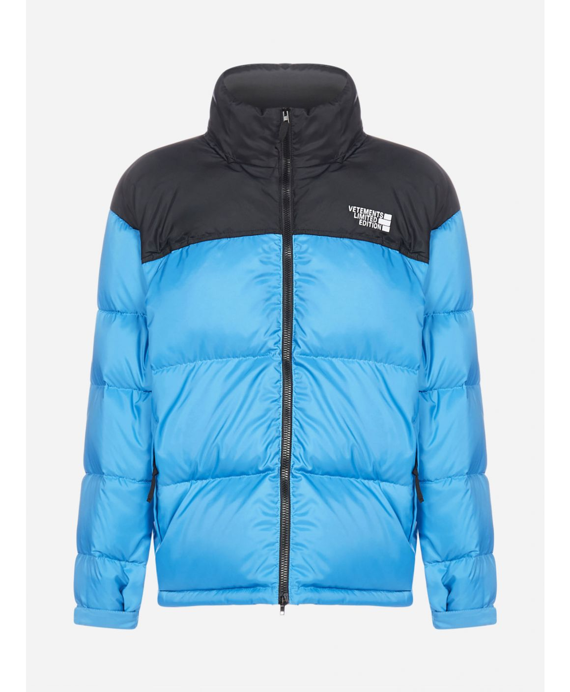 Logo quilted nylon puffer jacket