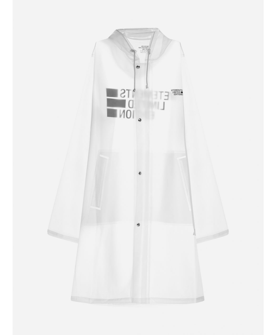Limited Edition Logo PVC trench coat