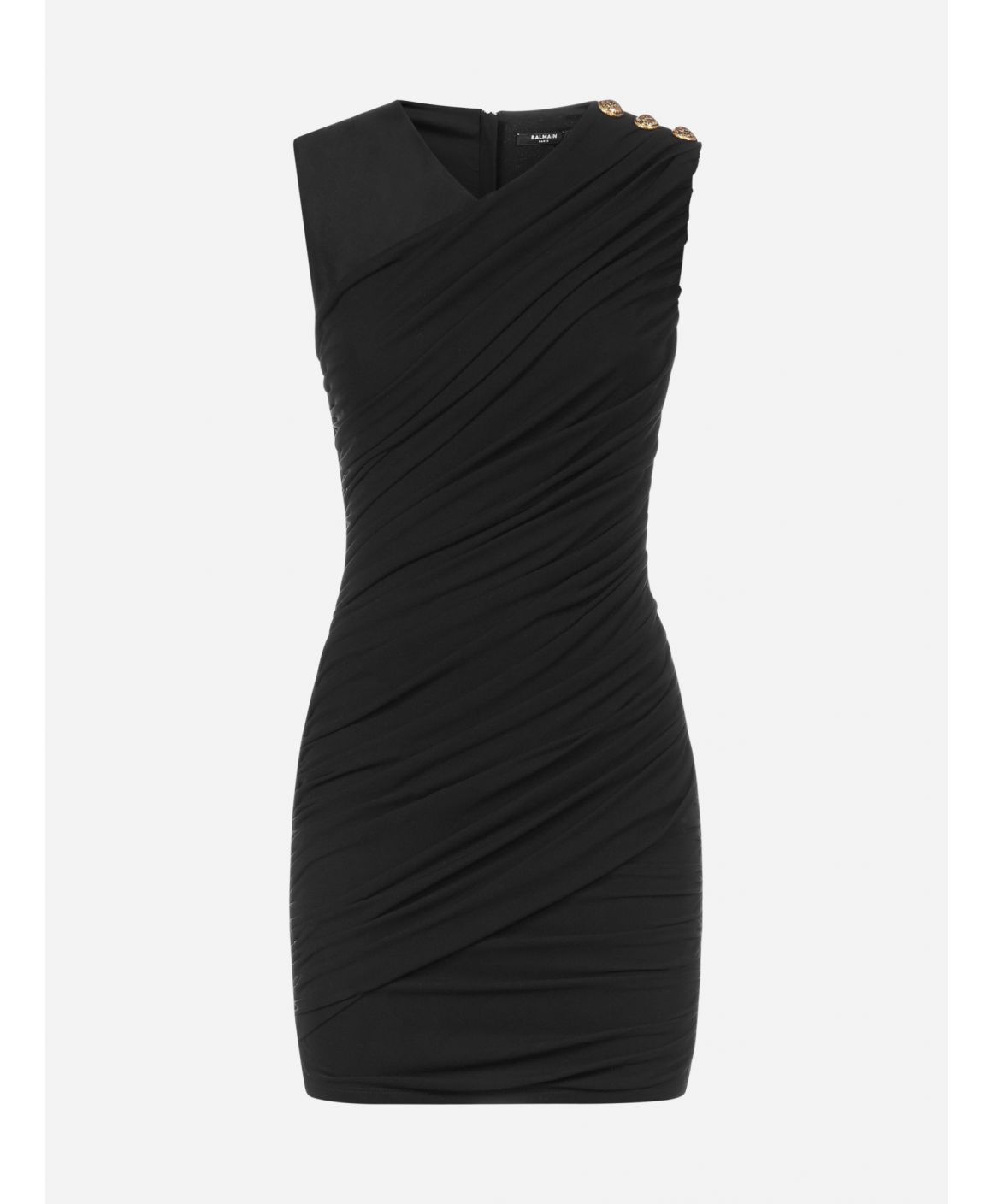 Draped stretch viscose mini dress